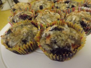Blueberry Coconut Muffins.