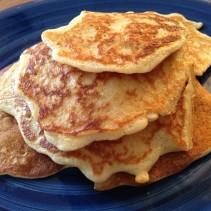 Coconut Oil Oatmeal Pancakes